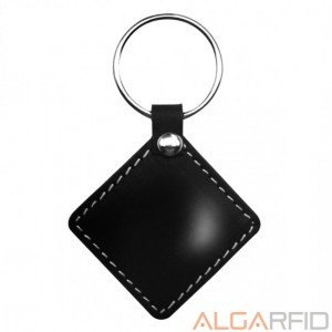 RFID Mifare leather keychains(13.56 Mhz)