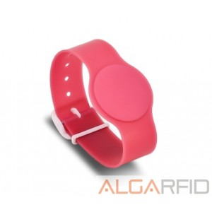 "Hard PVC bracelette with ""watch shape"""